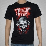 Tragic Hero Records Red Print Skull Black T-Shirt
