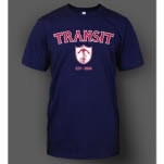 Transit Upside Down Anchor Navy T-Shirt