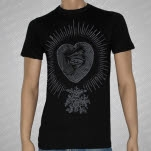 Trapped Under Ice Heart Black T-Shirt