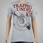 Trapped Under Ice Secrets Imagery Silver Gray T-Shirt