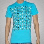 Umbrella Clothing Pattern Blue T-Shirt