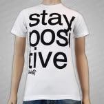Umbrella Clothing Stay Positive White T-Shirt