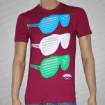 Umbrella Clothing Sunglasses Maroon T-Shirt
