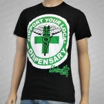 Umbrella Clothing Support Your Dispensary Black T-Shirt