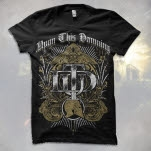 Upon This Dawning Gold Crest Black T-Shirt