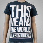Us    From Outside This Means The World Dark Heather T-Shirt