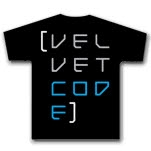 Velvet Code Text Black T-Shirt