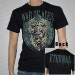 War Of Ages Lion Shield Black T-Shirt