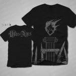 War Of Ages Silver Heart Black T-Shirt