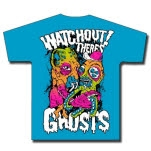 Watchout Theres Ghosts Fight Aqua Blue T-Shirt