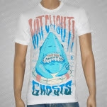 Watchout Theres Ghosts Shark White T-Shirt