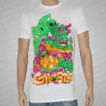 Watchout Theres Ghosts Surfs Up White T-Shirt