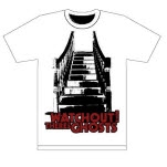 Watchout Theres Ghosts Stairs White T-Shirt