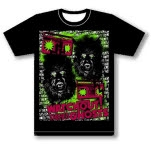 Watchout Theres Ghosts Wolfman Black T-Shirt