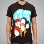 We Are The In Crowd Faces Brown T-Shirt