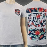 We Are The In Crowd Floral Pocket Heather T-Shirt