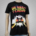 We Are The In Crowd Futuristic Black T-Shirt