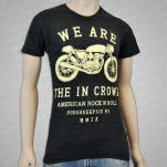 We Are The In Crowd Motercycle Tri Black T-Shirt
