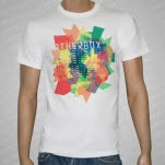 Weatherbox Rainbow White T-Shirt
