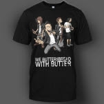 We Butter The Bread With Butter Comic Black T-Shirt