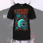 We Butter The Bread With Butter Flower Monster Black T-Shirt