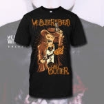 We Butter The Bread With Butter Hello Sheriff Black T-Shirt
