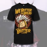 We Butter The Bread With Butter Indian Black T-Shirt