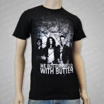 We Butter The Bread With Butter Photo Black T-Shirt