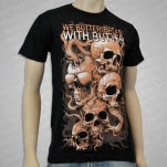 We Butter The Bread With Butter Skullglasses Black T-Shirt