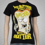 We Butter The Bread With Butter Slice Black T-Shirt