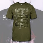We Butter The Bread With Butter Snake Olive Green T-Shirt