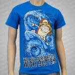 We Butter The Bread With Butter Surfer Sapphire T-Shirt