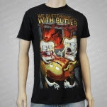 We Butter The Bread With Butter The Walking Bread Guts Black T-Shirt