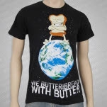 We Butter The Bread With Butter World Domination Black T-Shirt