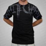Whitechapel Neck Logo Grey On Black T-Shirt