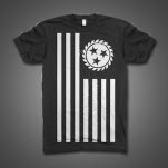 Whitechapel Simple Flag Black T-Shirt