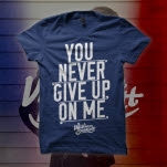 William Beckett You Never Give Up On Me Navy T-Shirt