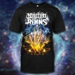 Within The Ruins Hand Black T-Shirt