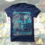 With The Punches Tree Navy T-Shirt