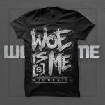 Woe Is Me Numbers Logo Black T-Shirt