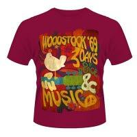 official Woodstock Swirl Poster T-Shirt
