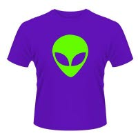 X Brand Alien Head Purple T-Shirt