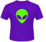 X Brand Alien Head Purple T-Shirt