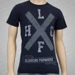 xLooking Forwardx Big X Navy T-Shirt