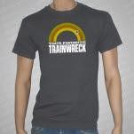 Your Favorite Trainwreck Logo Gray T-Shirt