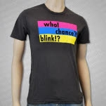 ZTT Records Who Chance Blink Vintage Black T-Shirt